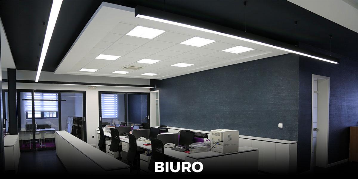 oświetlenie biurowców, oprawy, lampy LED do biura
