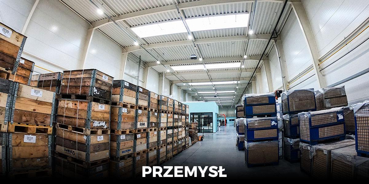 oświetlenie LED przemysłowe do hali fabrycznej