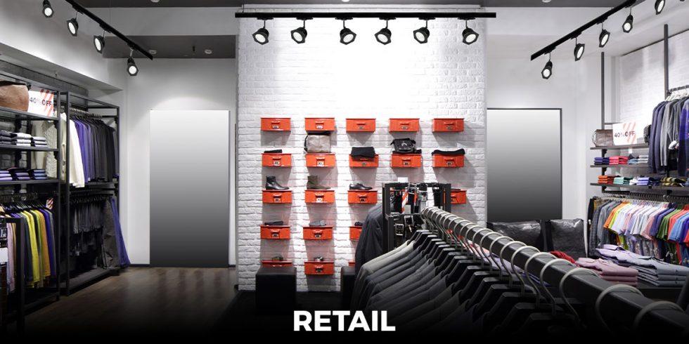 oświetlenie sklepów, lampy LED do supermarketów, oprawy świetlne