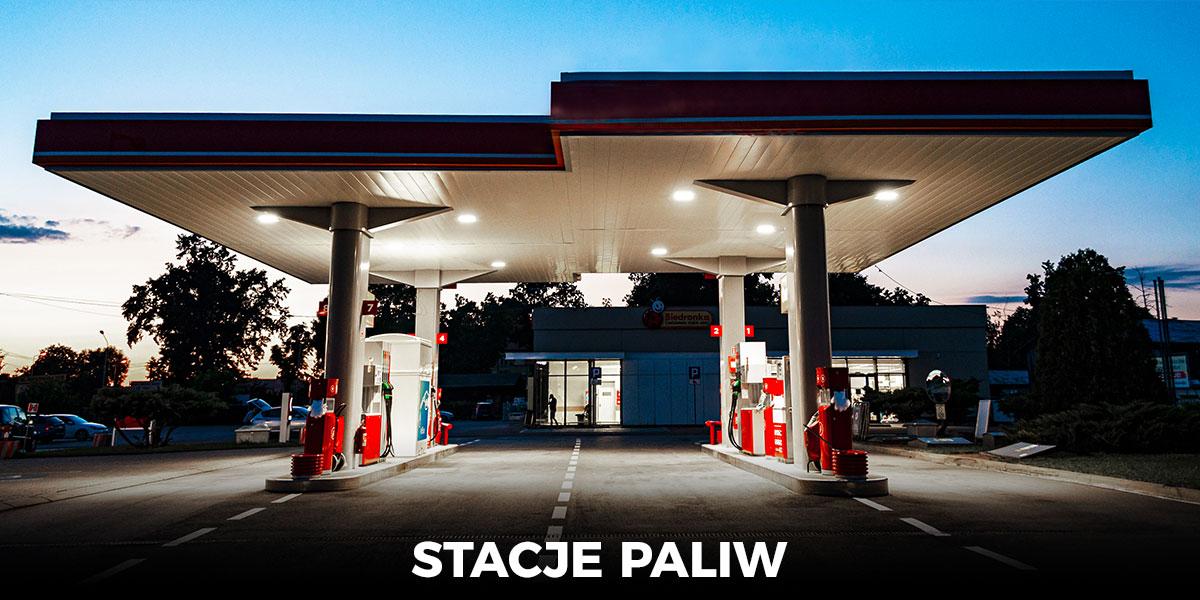 oświetlenie LED na stacje paliw lampy na stacje benzynowe